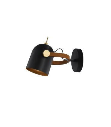 Aplique 1 luz ADAME negro oro de Schuller 346573