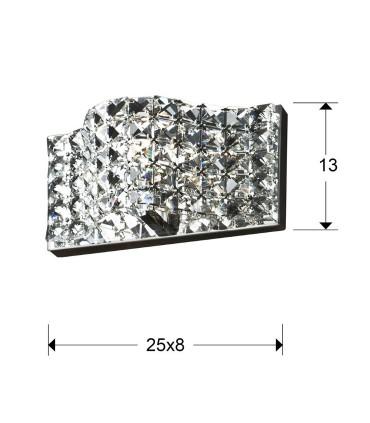 Aplique 1 luz ONDA - Schuller  160320
