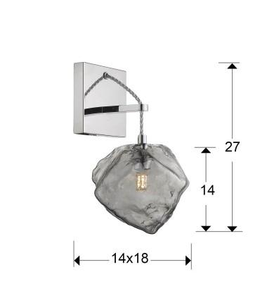 Aplique 1 luz PETRA cromo G9 de Schuller 213868