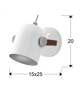 Aplique blanco-plata ADAME 346596 de Schuller