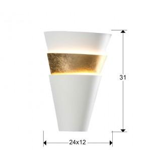 Aplique ISIS 1 luz blanco oro - Schuller 648362