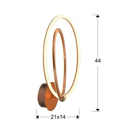 Aplique led OCELLIS dorado - Schuller 814027