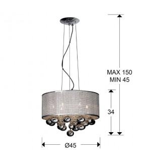 Colgante ANDROMEDA 6 luces - Schuller 174011