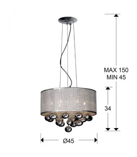 Colgante ANDROMEDA 8 luces - Schuller 174112