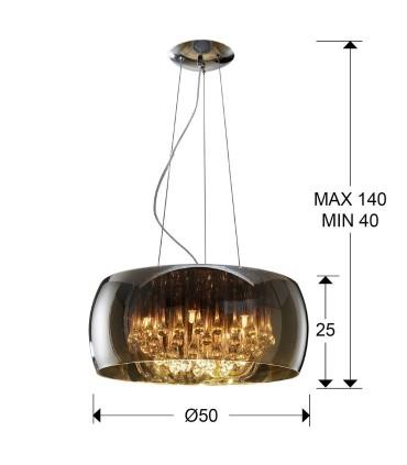 Colgante ARGOS 50cm 508111- Schuller