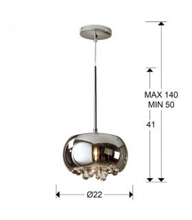 Colgante ARGOS cromo 22cm - Schuller 509010