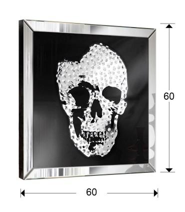 Cuadro espejo SKULL 60x60- Schuller 786351