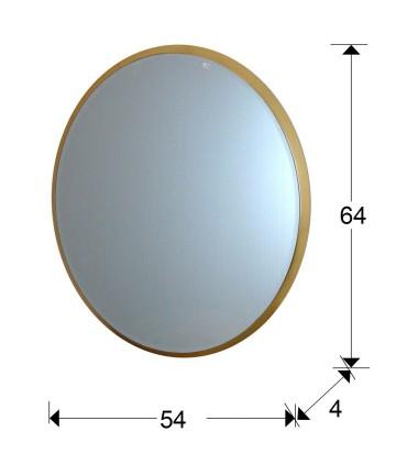 Espejo ARIES oval 54x64 oro -Schuller 119238