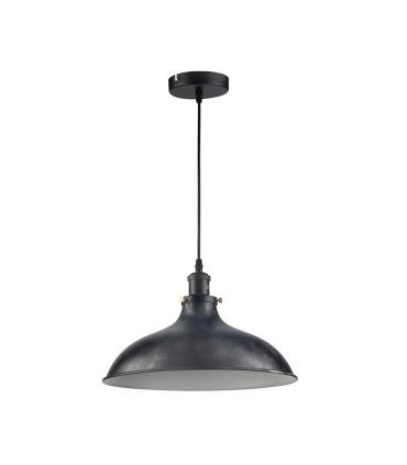 Lámpara Tuba Campana Negro Envejecido 36cm