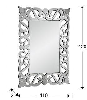 Espejo DUNIA rectangular 120X110 cm - Schuller 118624