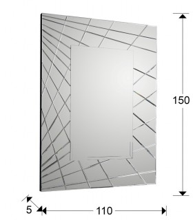 Espejo FUSION rectangular - Schuller 161022