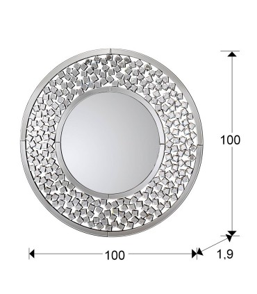 Espejo MARTINA 100 cm. - Schuller 184136