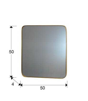 Espejo ORIO cuadrado 51x51 oro - Schuller 127011