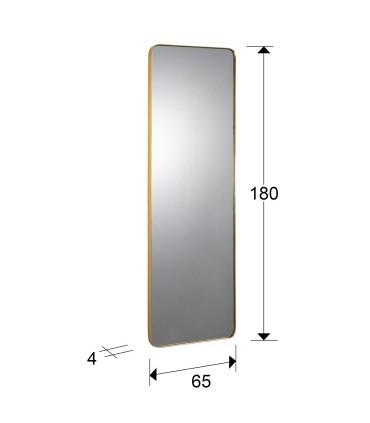 Espejo ORIO rectangular 66x181 oro de Schuller 127752