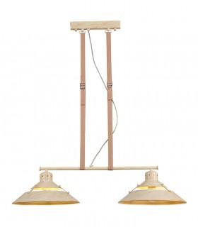 Lámpara INDUSTRIAL 5433 2 luces arena Mantra