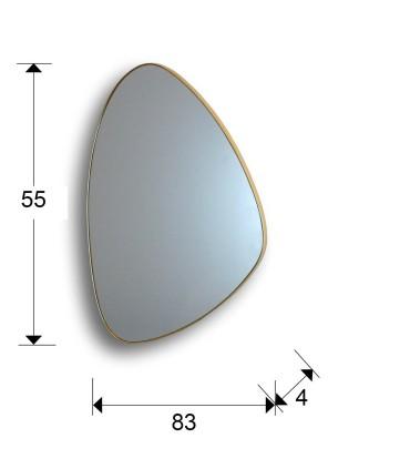 Espejo ORIO triangular oro 84x55 - Schuller 127387