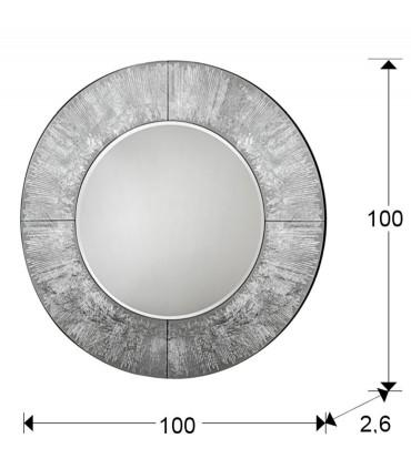 Espejo redondo AURORA plata 1m - Schuller 593364