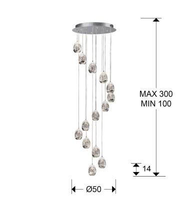 Lámpara 50cm ROCIO 14 LED cromo 785634 de Schuller