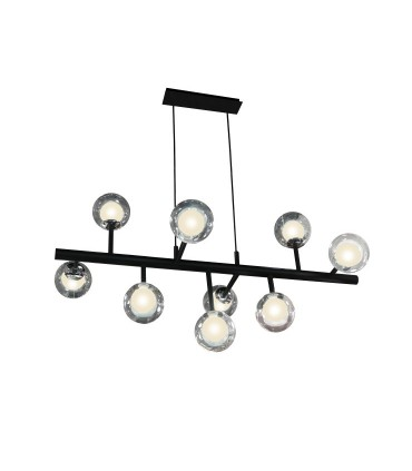 Lampara 9L ALTAIS negro cromo dimable - Schuller 345509D
