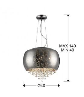 Lámpara CAELUM cromo 40cm - Schuller 618436