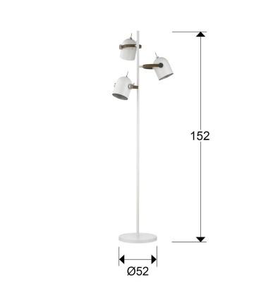 Lámpara de pie 3 luces ADAME blanco plata - Schuller 346246