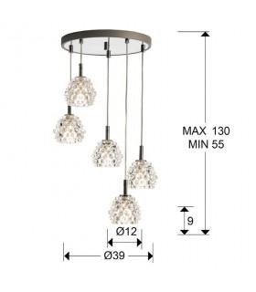 Lampara HESTIA II 5 luces - Schuller 956522
