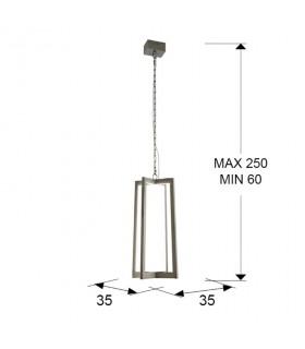 Lámpara KUMA inox led - Schuller 753108