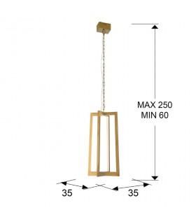 Lámpara KUMA oro led - Schuller 753114