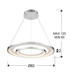 Lámpara led LARIS 82cm cromo - Schuller 281360