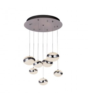 Lampara led LIPSE 7 luces cromo - Schuller 377485