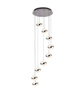 Lámpara led LIPSE 9 luces cromo - Schuller 377934
