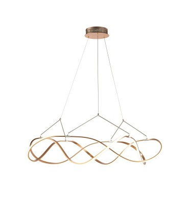 Lámpara led MOLLY 110 cm dorada - Schuller 763592