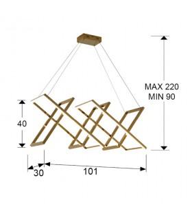 Lámpara LIMUS oro led - Schuller 753319
