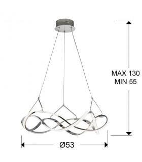 Lámpara led MOLLY 55cm cromo - Schuller 763824