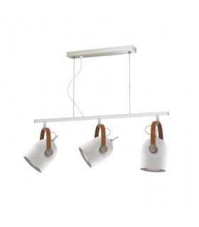 Lámpara nórdica ADAME 3 luces blanco plata - Schuller 346766