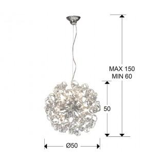 Lámpara NOVA transparente 50cm - Schuller 542013