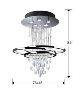 Lámpara pequeña BRUMA 5 luces+ LED - Schuller 696427