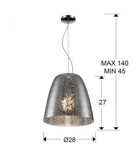 Lámpara QUASAR cromo 1 luz 28cm - Schuller