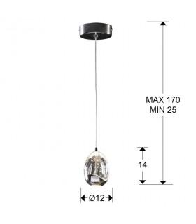 Lámpara ROCIO 1 LED cromo - Schuller 784326