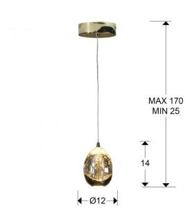 Lámpara ROCIO 1 LED oro - Schuller 784347