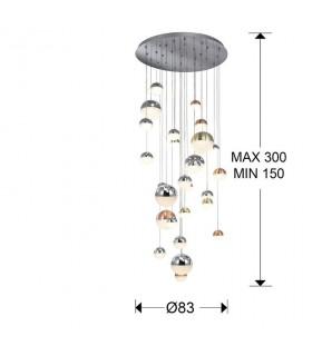 Lampara SPHERE Ø80 27 luces 793960 - Schuller