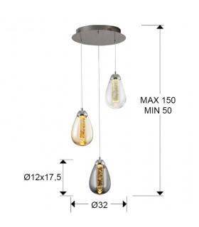 Lampara TACCIA 3 luces cromo color de Schuller 394782