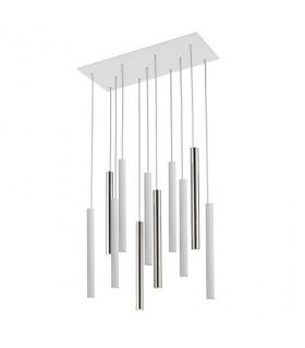 Lámpara VARAS cromo/blanco 11L - Schuller 373378