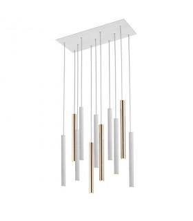 Lampara VARAS oro blanco 11 luces - Schuller 373342