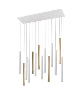 Lampara VARAS oro blanco 14 luces - Schuller 373437