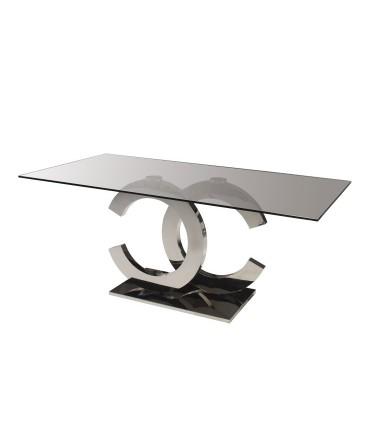 Mesa comedor CALIMA acero 180cm - Schuller 820426/2059
