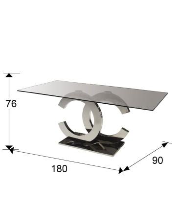 Mesa comedor CALIMA acero 180cm - Schuller