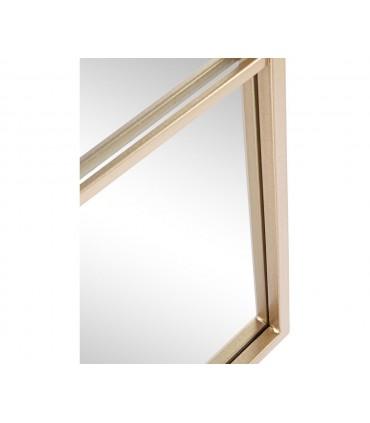 Espejo ORO Núcleos metal cristal 90x90cm