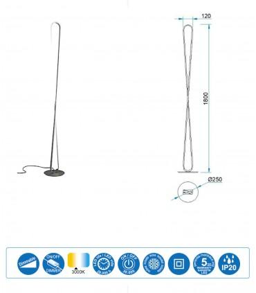 Lámpara de pie BUCLE Led 50W DIMMABLE 5987 Mantra