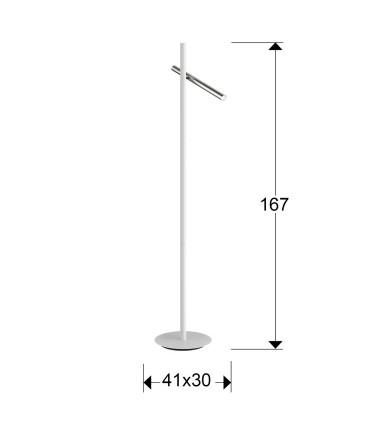 Pie de salón VARAS cromo blanco 2 luces - Schuller 373629